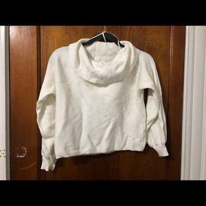 White fancy casual sweater